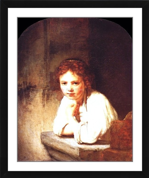 Printoyster A Girl At A Window Rembrandt Van Rijn