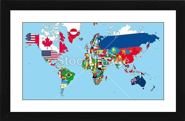 World Map Watermark.Printoyster The World Map Alextrim