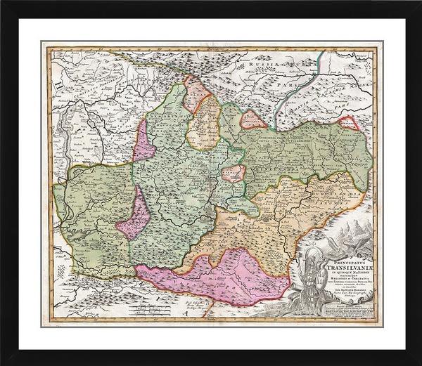 Map Of Transylvania (Romania), 1720